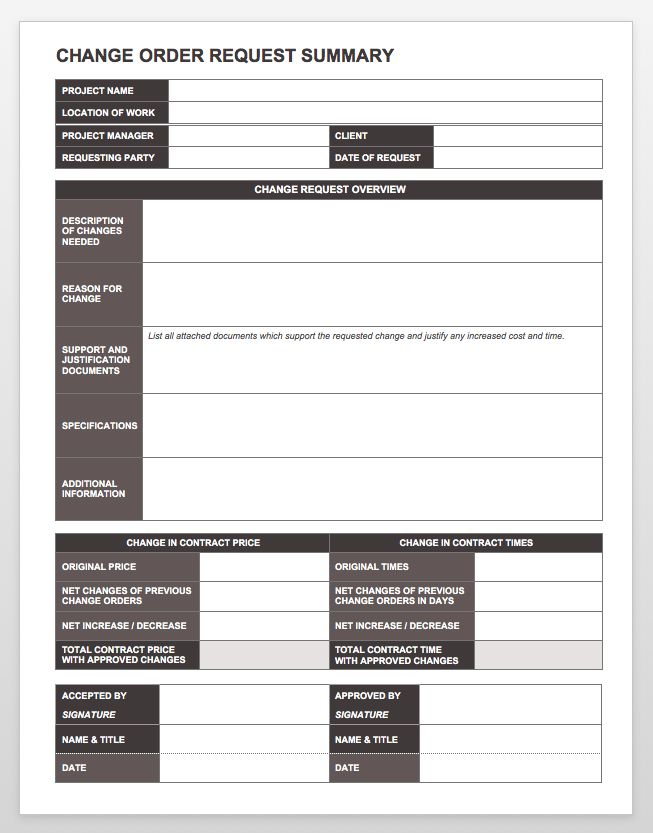 Sample Change Request 7 Documents In Pdf Word