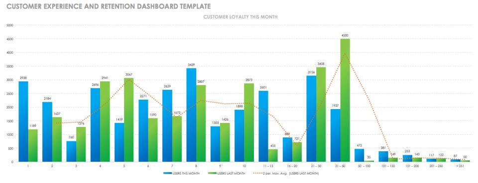 Customer Experience and Retention Dashboard Template