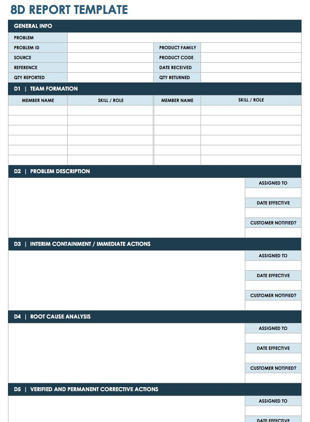 8d process flow diagram free lean six sigma templates smartsheet  free lean six sigma templates smartsheet