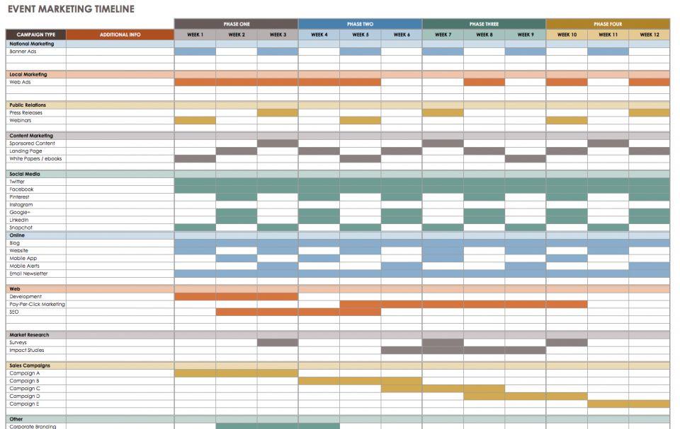 image regarding Free Printable Bible Timeline called Free of charge Blank Timeline Templates Smartsheet