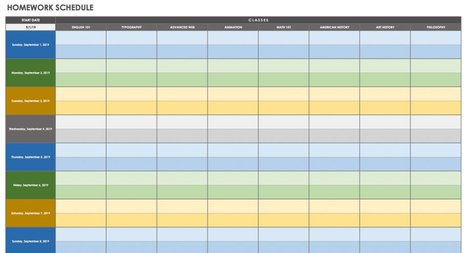 28 Free Time Management Worksheets | Smartsheet