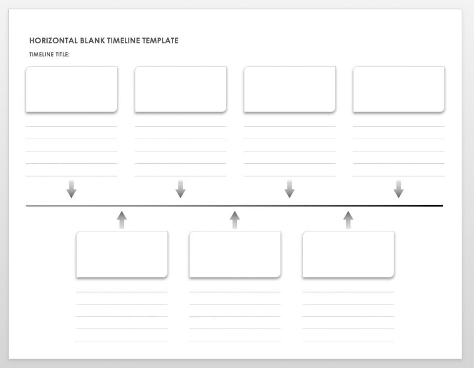 graphic relating to Blank Timeline Printable called Cost-free Blank Timeline Templates Smartsheet