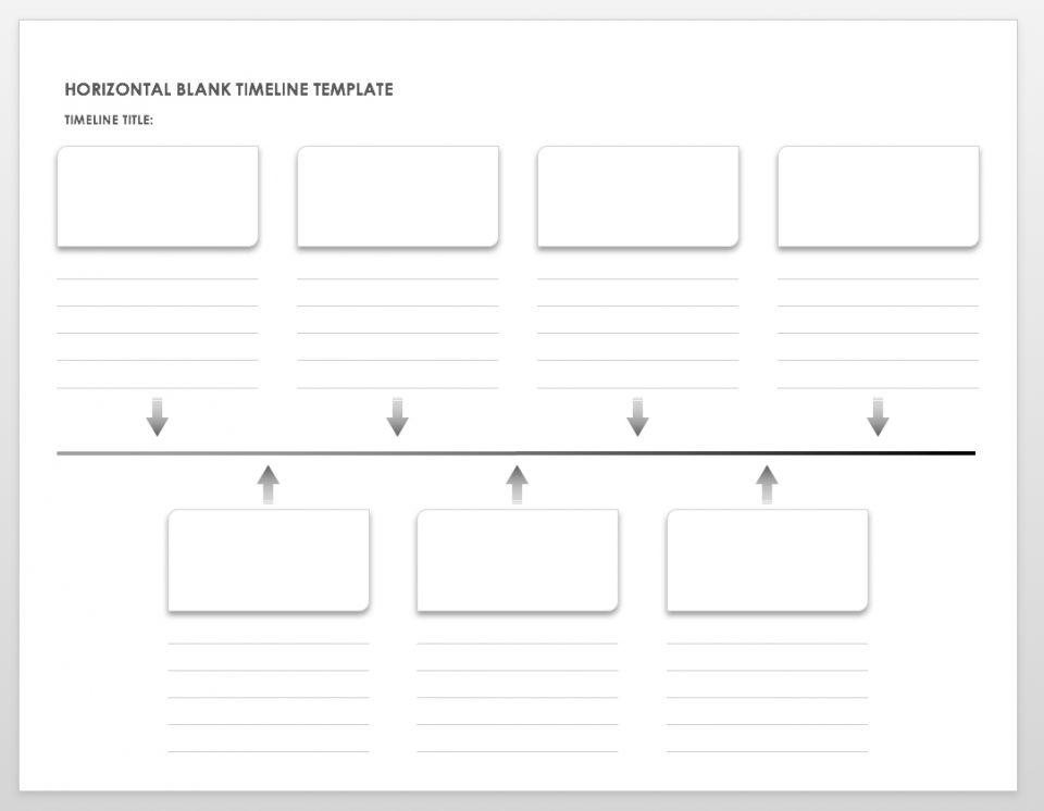 image relating to Blank Timeline Printable named Absolutely free Blank Timeline Templates Smartsheet
