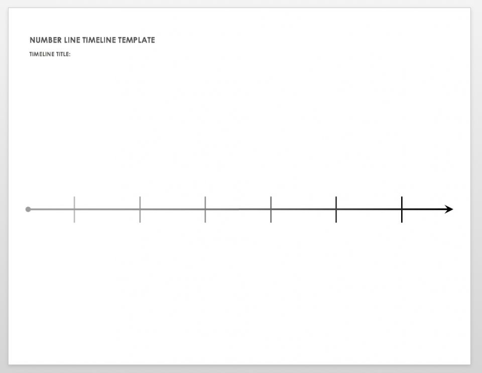 picture relating to Printable Timeline Template named Totally free Blank Timeline Templates Smartsheet