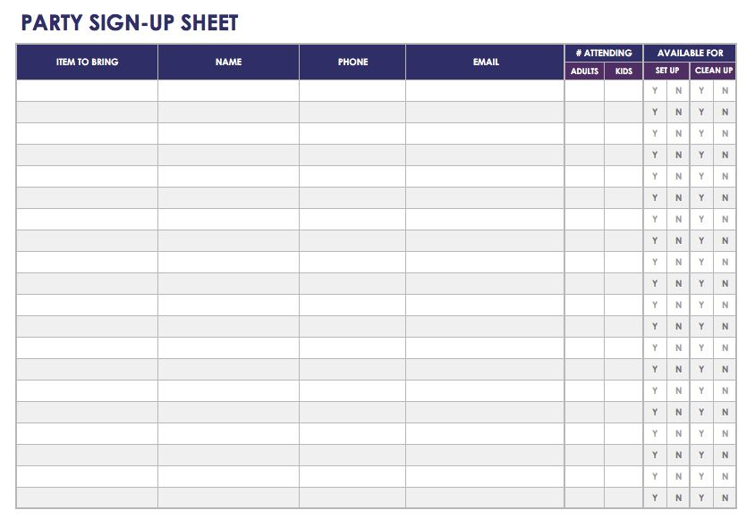 photo relating to Printable Sign in Sheets called Free of charge Indicator-in just and Indication-up Sheet Templates Smartsheet