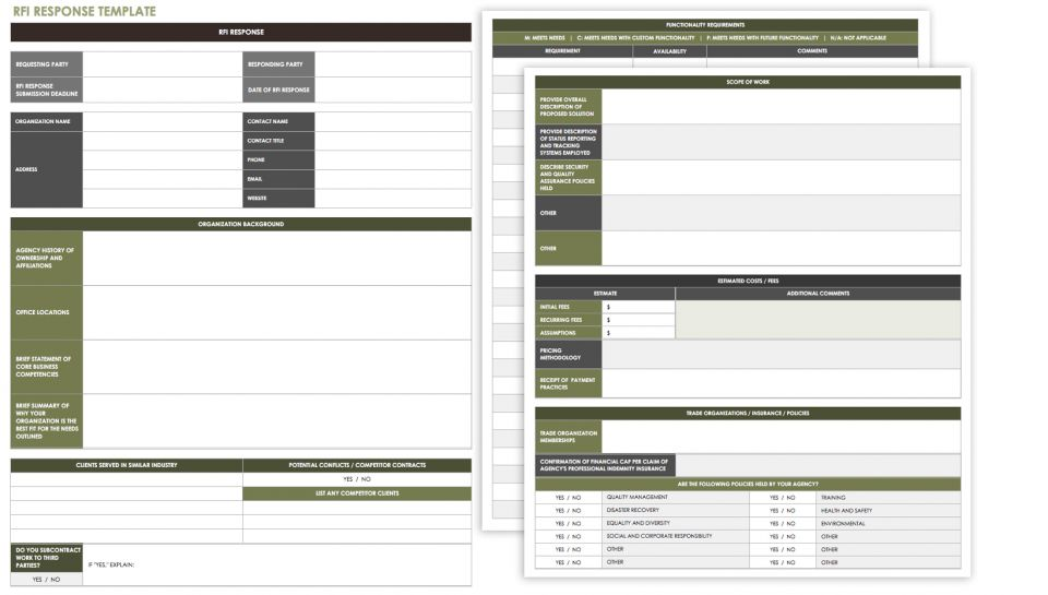 Free Request for Information Templates | Smartsheet