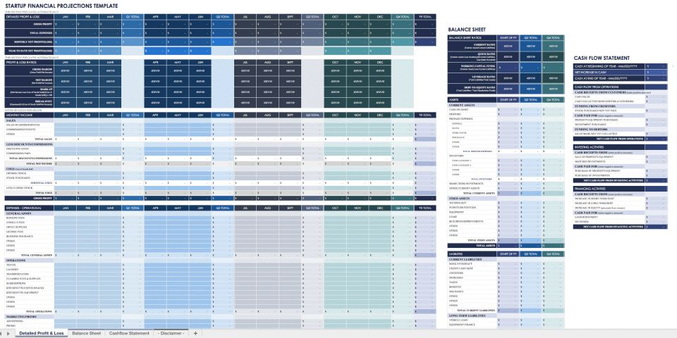 Startup Financial Plan Template Excel from www.smartsheet.com