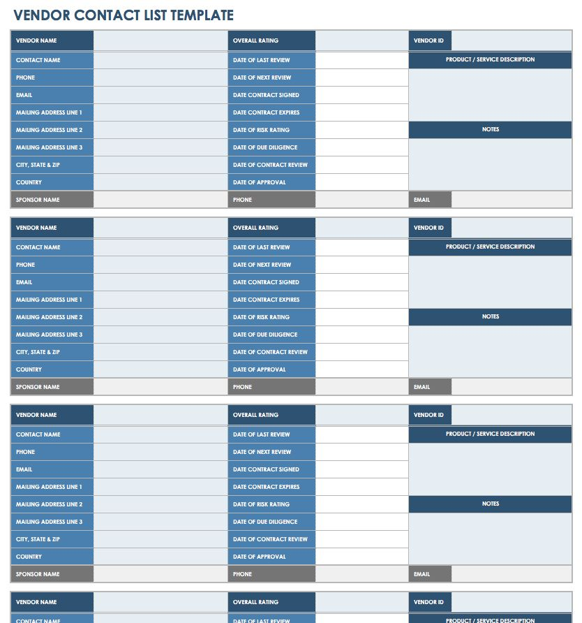 13 free vendor templates