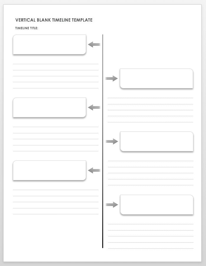 image about Printable Timelines called Absolutely free Blank Timeline Templates Smartsheet