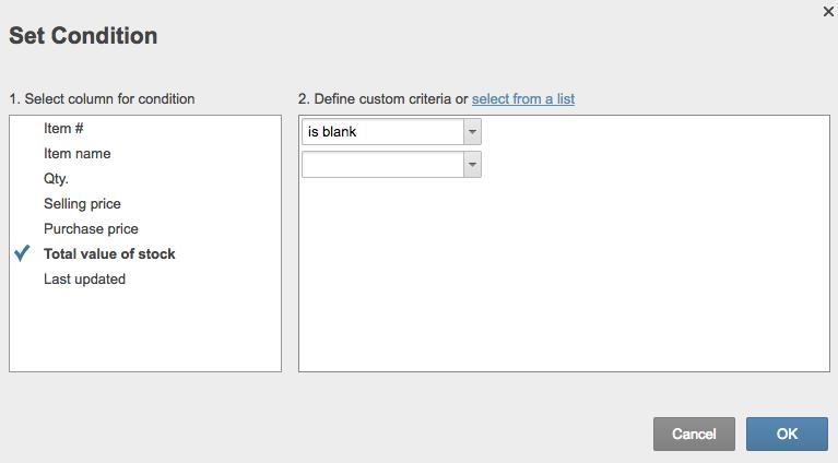 Set condition Smartsheet