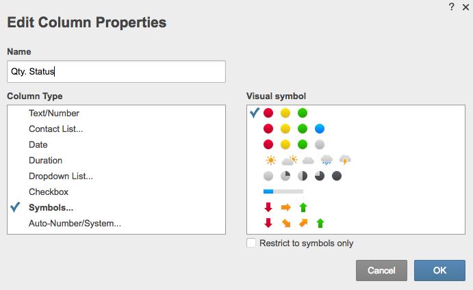 Edit column properties Smartsheet