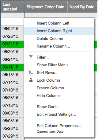 Conditional formatting insert image right Smartsheet