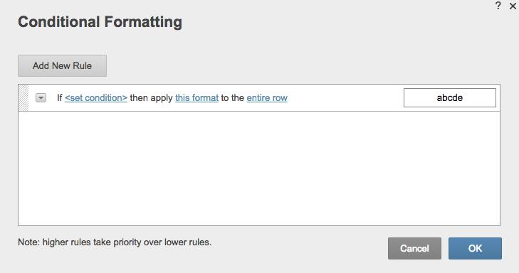Conditional formatting priority Smartsheet