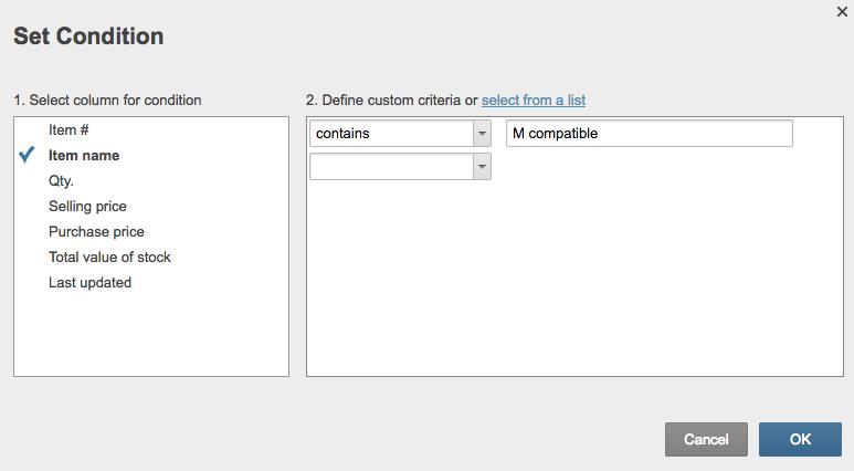 Set new condition Smartsheet