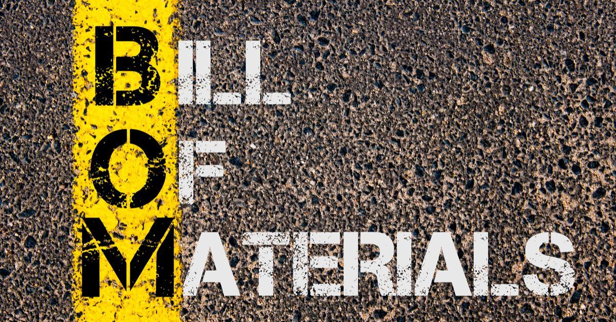 Free Bill Of Material Templates Smartsheet
