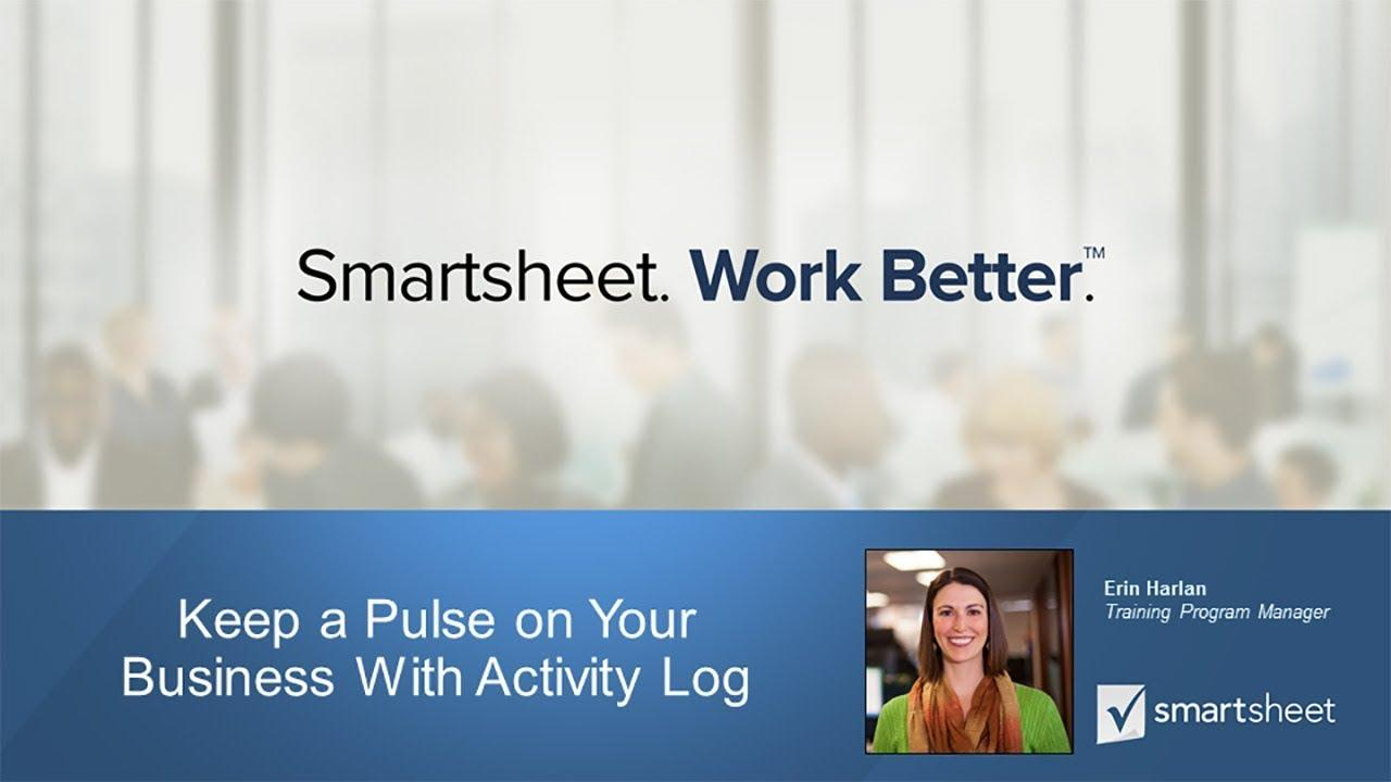 Keep a Pulse on Your Business With Activity Log