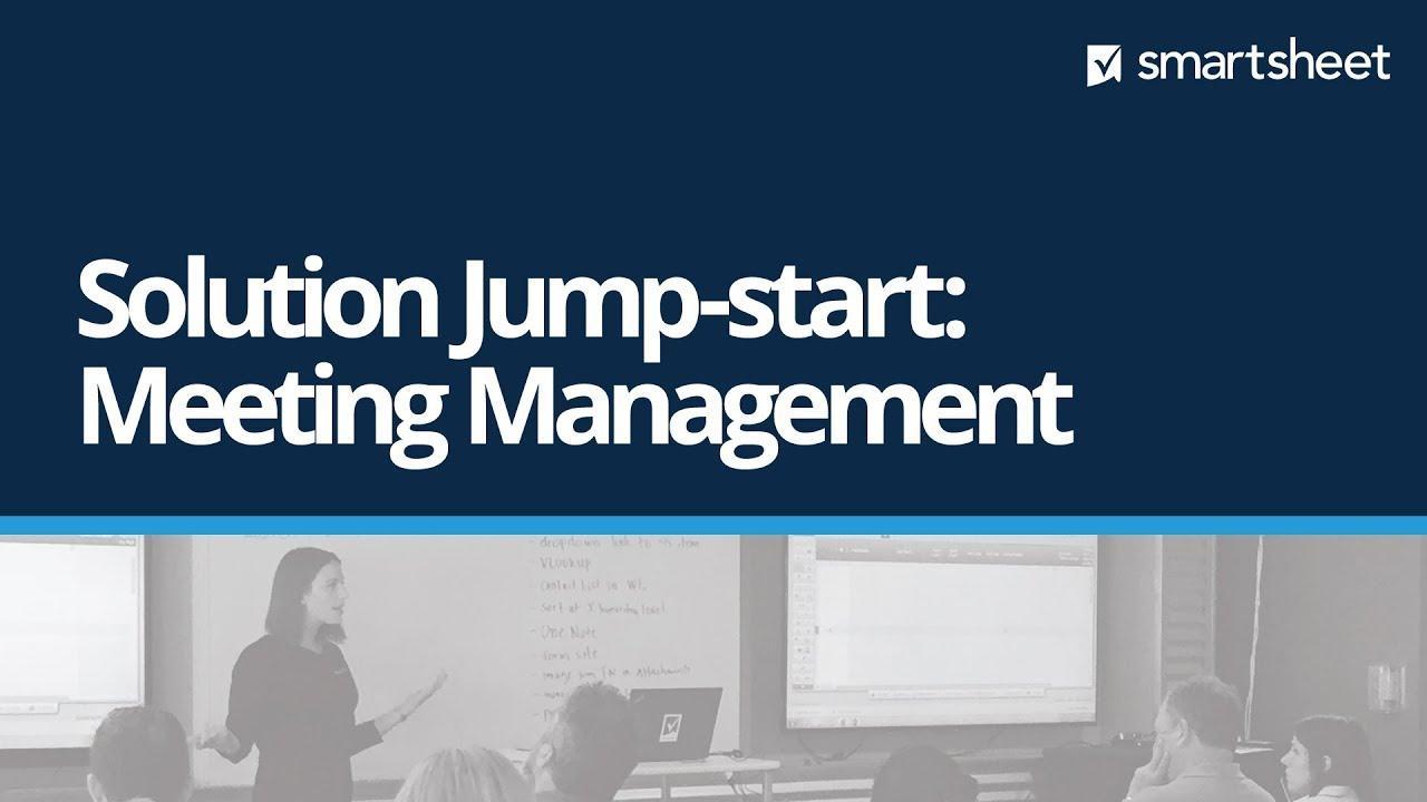 Solution Jump-start: Meeting Management