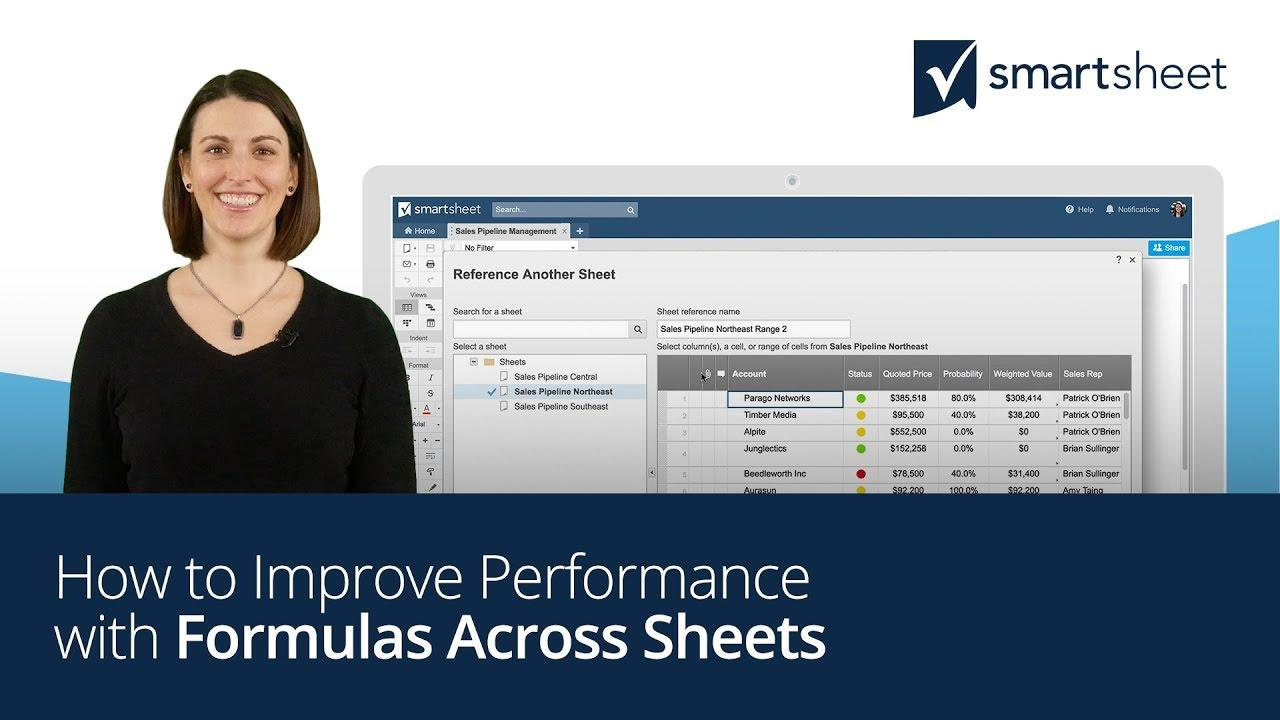 How to Improve Performance with Formulas Across Sheets