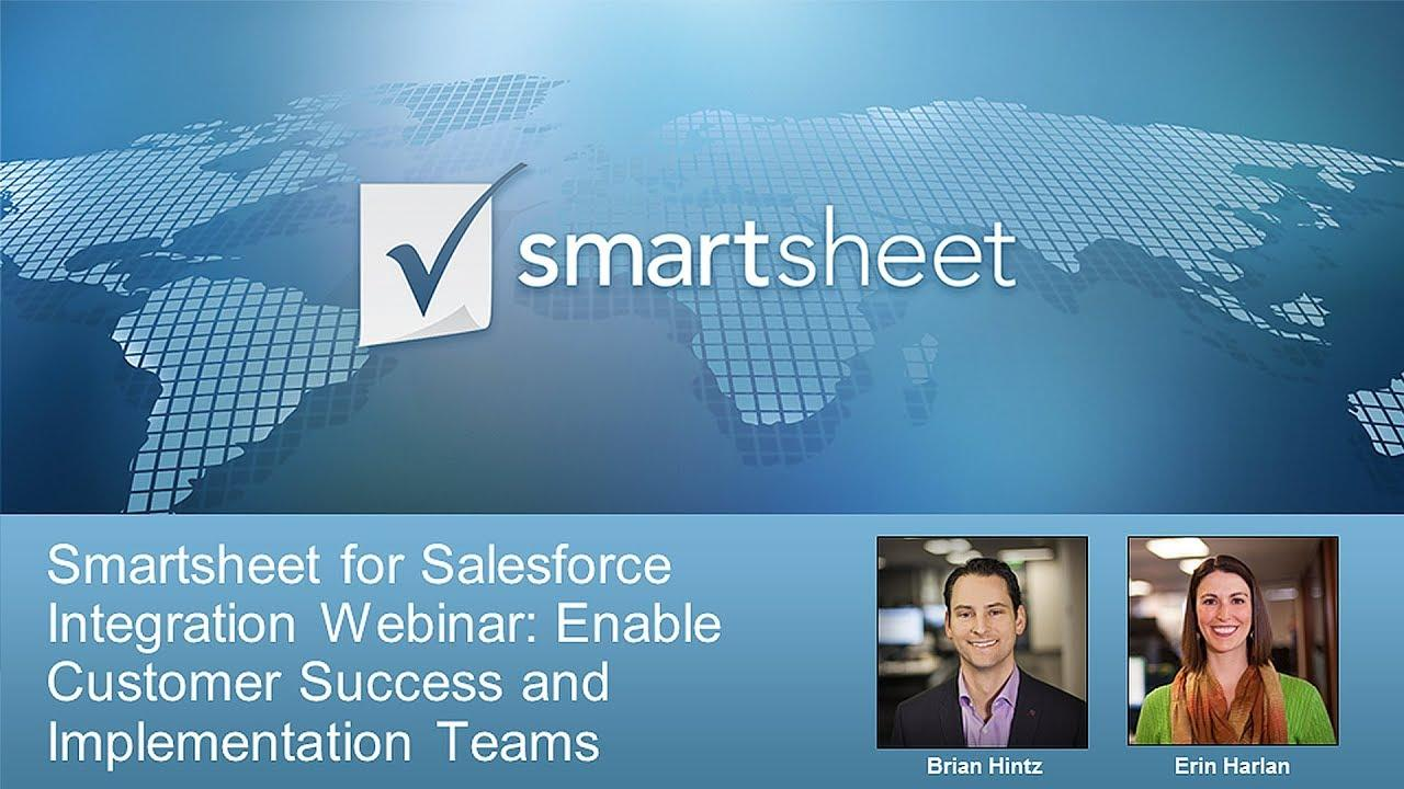 Use Smartsheet for Salesforce to Enable Project and Implementation Teams
