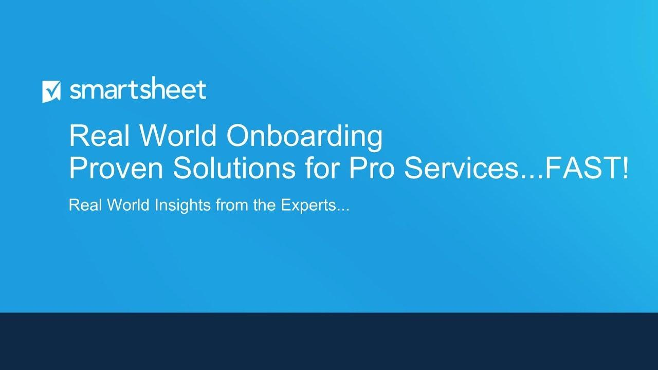 Smartsheet Accelerator for Professional Services Customer Webinar Trailer (5 mins)