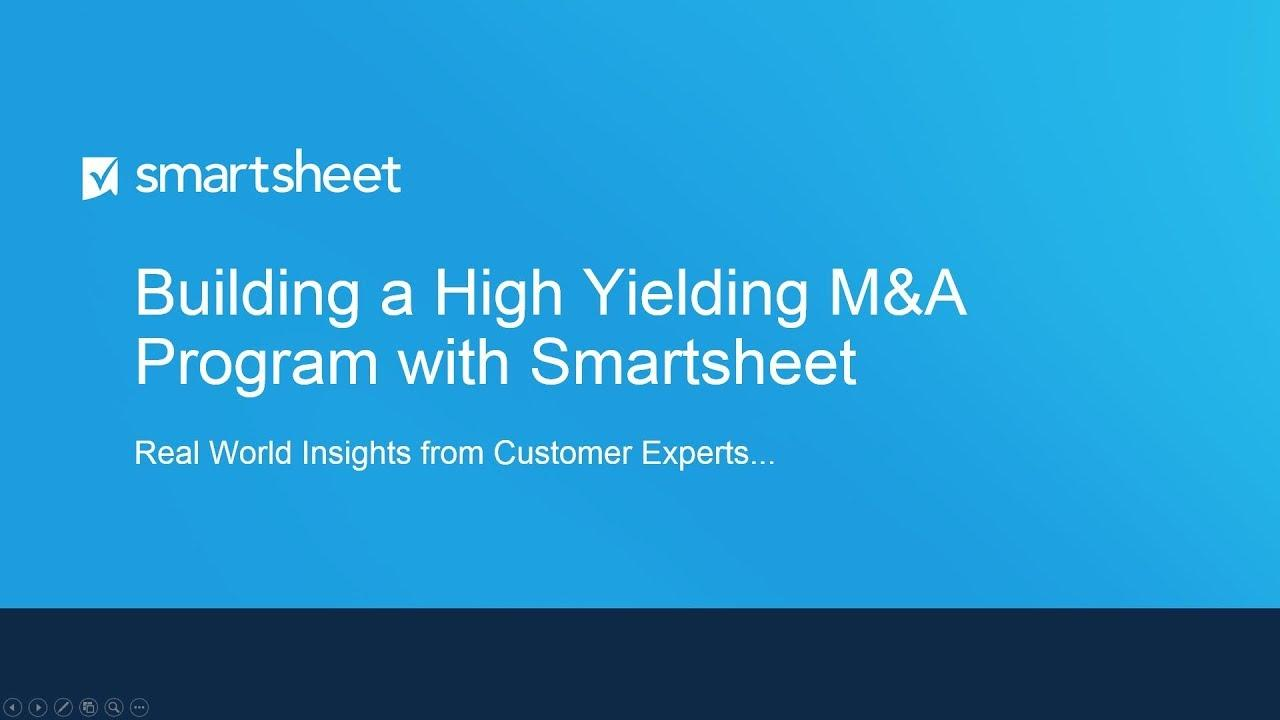 How Sunoco Builds a High Yielding M&A Program with Smartsheet