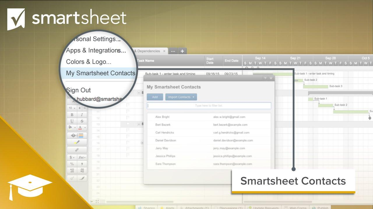 Contacts in Smartsheet