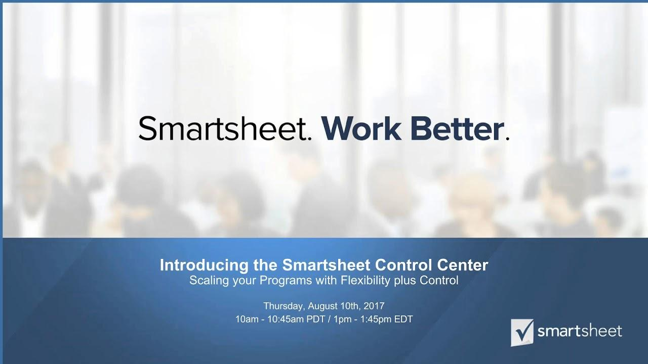 Smartsheet Control Center Product Overview
