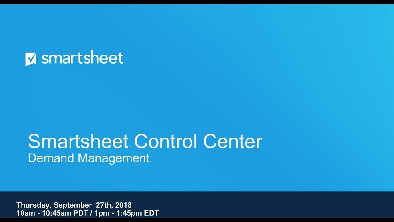 Control Center Demand Management