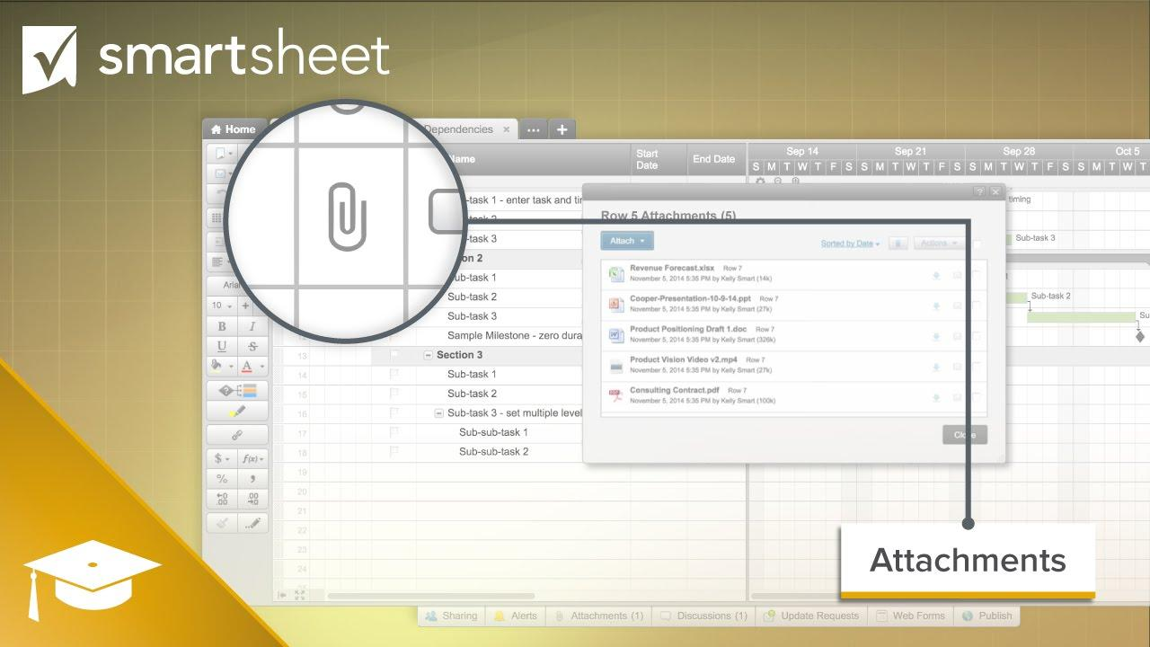 File Sharing and Attachments in Smartsheet