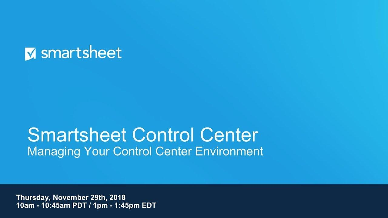 Control Center Workshop -  Managing your Control Center Environment