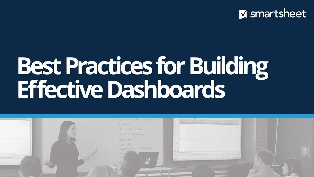 Best Practices for Building Effective Dashboards
