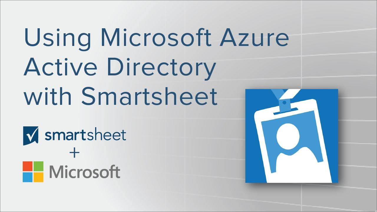Using Microsoft Azure Active Directory with Smartsheet