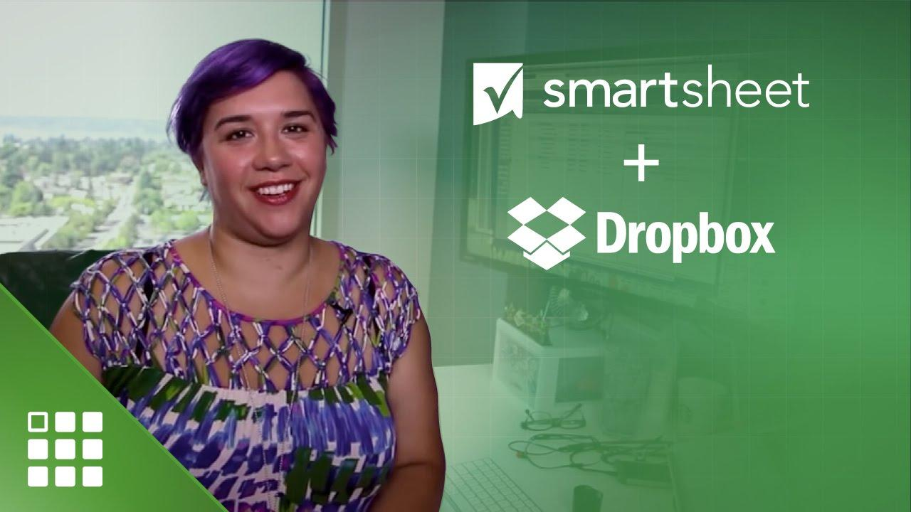 File Sharing in Smartsheet with Dropbox
