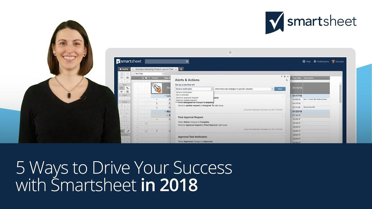 5 Ways to Drive Your Success with Smartsheet in 2018