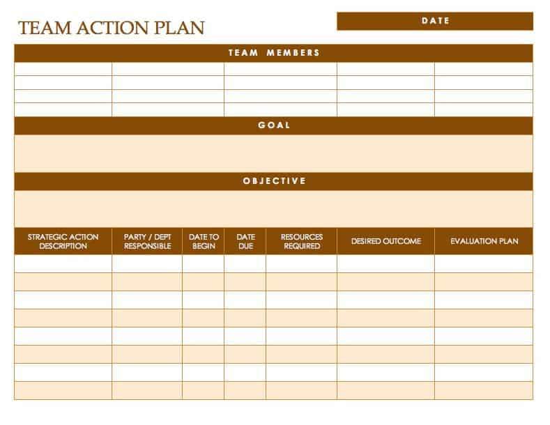 Free action plan templates smartsheet for How to set up a business plan templates