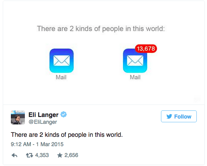 Two types of email people