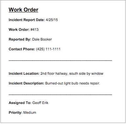 Work orders with Smartsheet